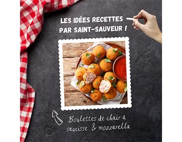 Recette : boulettes de chair à saucisse & mozzarella
