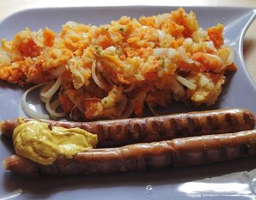Recette de la saucisse de Toulouse purée avec Saint-Sauveur